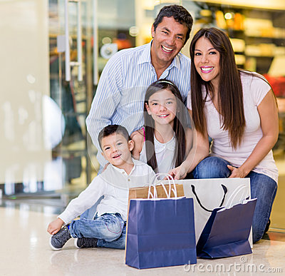 Beautiful family shopping