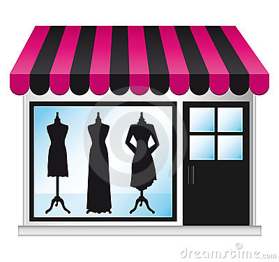 Free Beautiful Fashion Boutique Frontdoor. Stock Photography - 16937272
