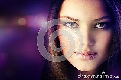Beautiful Fashion Girls Portrait