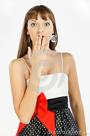 Free Beautiful Fashion Girl Surprised And Shocked Stock Images - 18913724