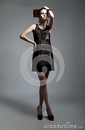Beautiful fashion model female posing