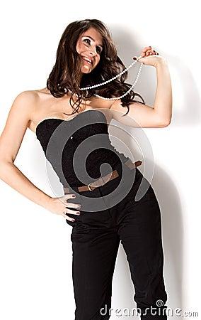 Beautiful fashion model posing