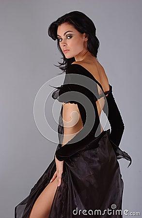 Beautiful fashion model posing prett
