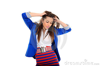 Beautiful fashion model shot in studio