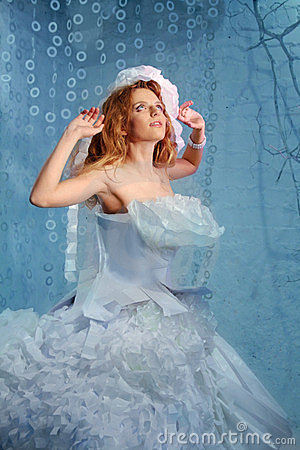 Beautiful Fashion Woman Fairy Bride