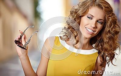 Beautiful fashion woman outdoor