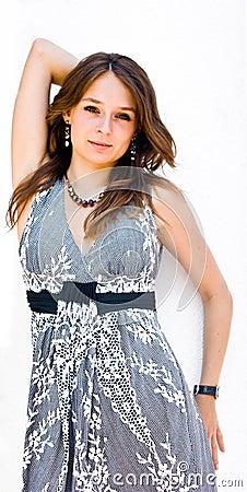 Beautiful fashion young woman