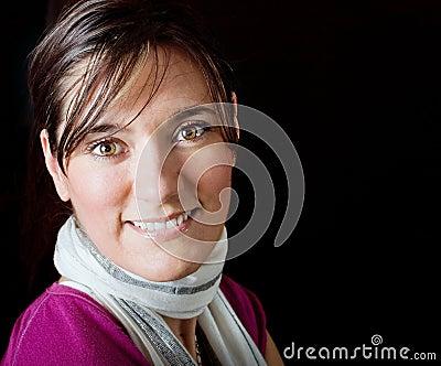 Beautiful fashionable woman portrait