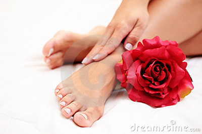 Beautiful feet and hands