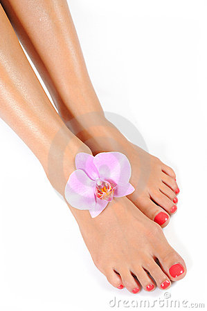 Free Beautiful Feet With Perfect Spa Pedicure Stock Photos - 15031553