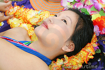 Beautiful Female Dreaming of Hawaii