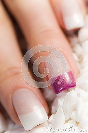 Beautiful female fingernails