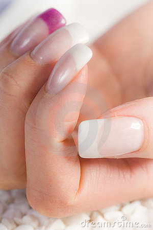 Beautiful female fingernails