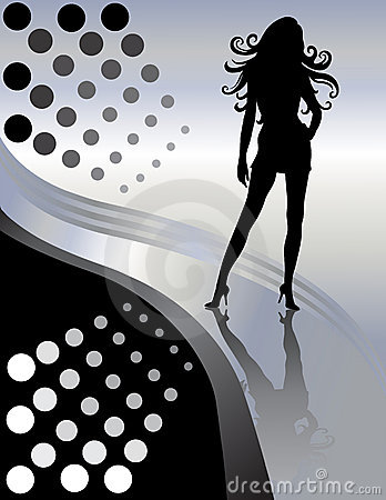 Free Beautiful Female Sexy Lady Silhouette Royalty Free Stock Photo - 6525575