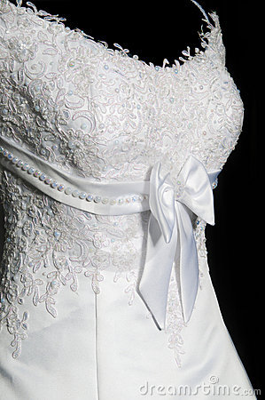 Beautiful female weddings dress on a mannequin