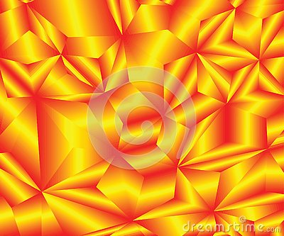 Beautiful fire crystals. Abstract background. Vector Illustration. Vector Vector Illustration