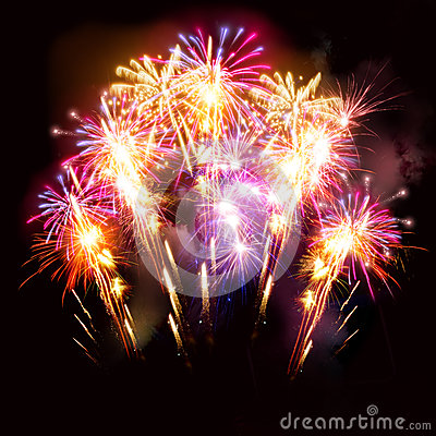 Free Beautiful Fireworks Display Royalty Free Stock Image - 34228516