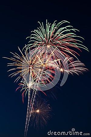 Free Beautiful Fireworks Display Lights Up The Nighttime Sky Stock Photo - 10506820