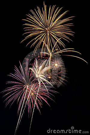 Free Beautiful Fireworks Display Lights Up The Nighttime Sky Stock Images - 10506824