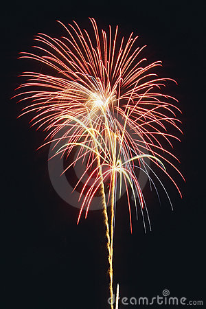 Free Beautiful Fireworks Display Lights Up The Nighttime Sky Royalty Free Stock Photo - 1128945