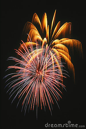 Free Beautiful Fireworks Display Lights Up The Nighttime Sky Royalty Free Stock Photos - 1130498