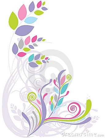 Beautiful floral abstract background
