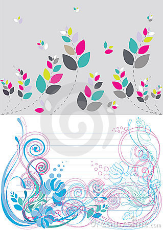 Beautiful floral abstract background in soft blue