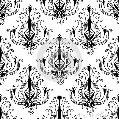 Beautiful floral arabesque seamless pattern