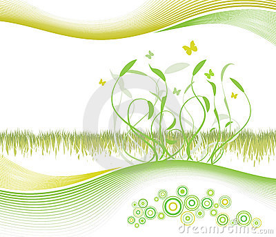 Beautiful floral background with modern lined art
