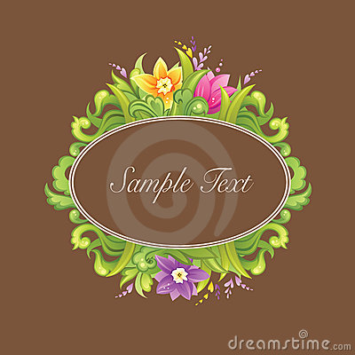 Beautiful floral circle design