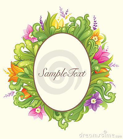 Beautiful floral circle design