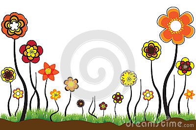 Beautiful floral illustration of seasonal blooms