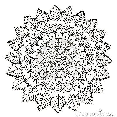 Beautiful Floral Mandala Vector