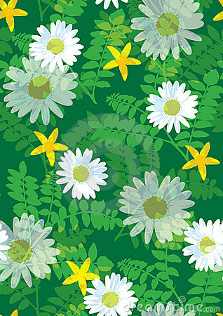 Free Beautiful Floral Pattern Seamless Tile Stock Photography - 2854892
