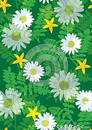 Beautiful floral pattern seamless tile