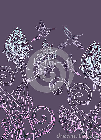 Beautiful floral prickle background