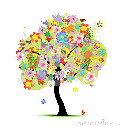 Beautiful floral tree