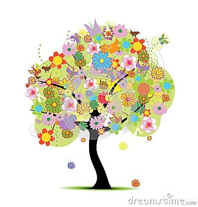 Beautiful floral tree