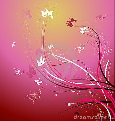 A beautiful floral vector illustration