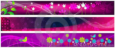 Beautiful floral web banners
