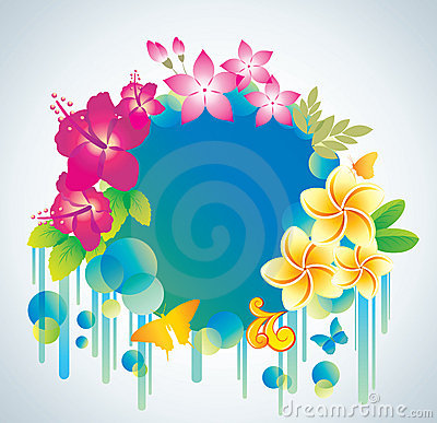Beautiful flower background with exotic flower.