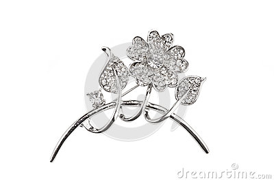 Beautiful flower brooch