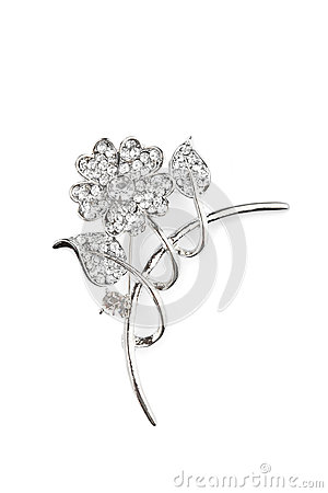 Beautiful Flower Brooch Royalty Free Stock Photography - Image: 28014287