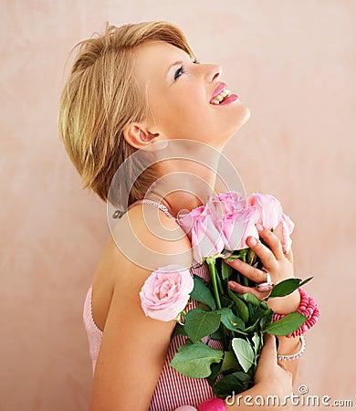 Beautiful flowers for a beautiful girl