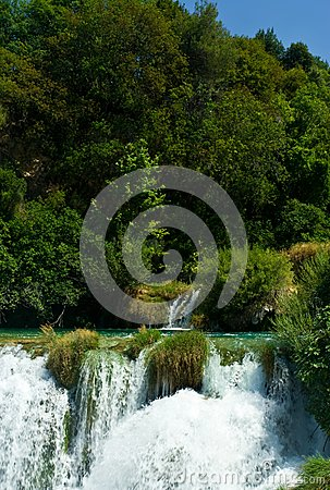 Beautiful forest waterfall, Croatia