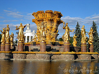 Beautiful fountain in Moscow.
