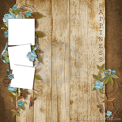 Beautiful frame with flowers on grunge background