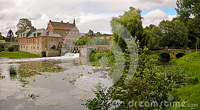 Beautiful  French water mill