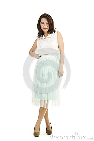 Beautiful full body asian woman portrait