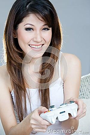 Beautiful gamer